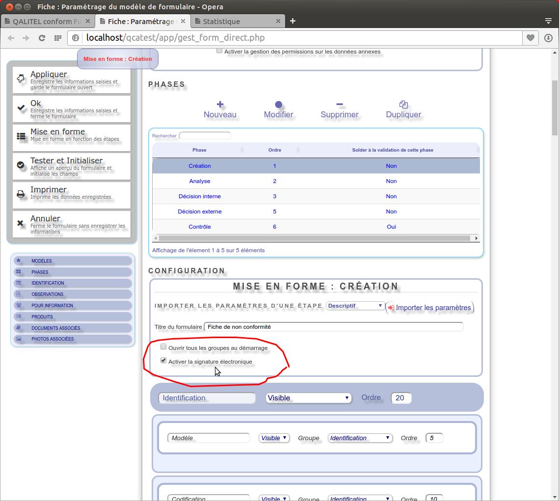 Documentation fonctionnelle de QALITEL conform